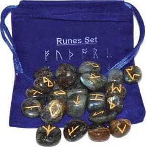 Labradorite rune set