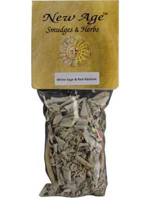 White Sage Smudge Stick with Shell