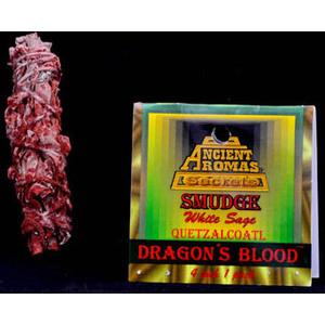 "Dragons Blood & White Sage Smudge Stick 3-4"""
