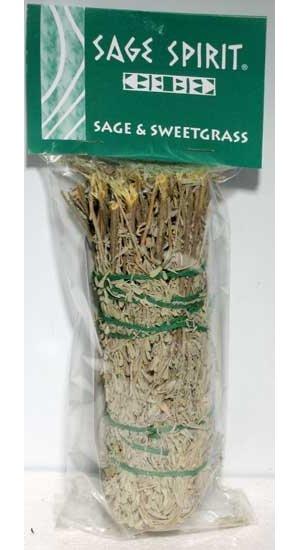 "Sage & Sweetgrass Smudge Stick 7"""
