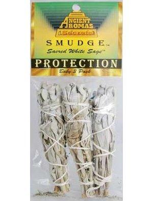 "White Sage Smudge Stick 3pk 3 1/2"""