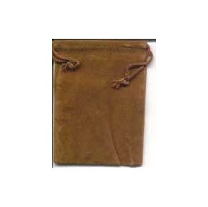 Velveteen Pouch 2 X 2 1/2 Brown