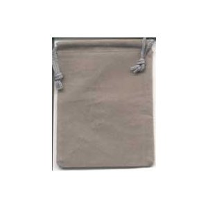 Velveteen Pouch 2 X 2 1/2 Gray