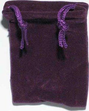 Velveteen Pouch 2 X 2 1/2 Purple