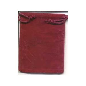Bag Velveteen Pouch 3 X 4 Burgundy