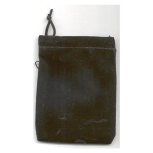 Bag Velveteen Pouch 3 X 4 Black