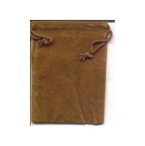 Bag Velveteen Pouch 3 X 4 Brown