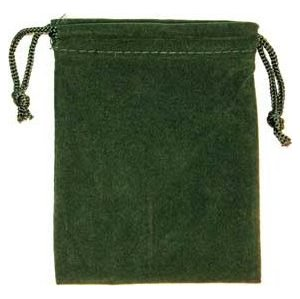 Bag Velveteen Pouch: 3 X 4 Green
