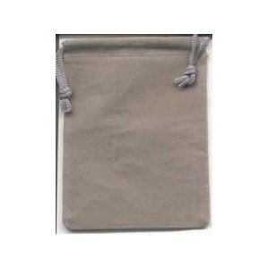 Bag Velveteen Pouch 3 X 4 Grey