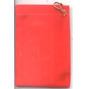 Bag Velveteen Pouch 3 X 4 Red