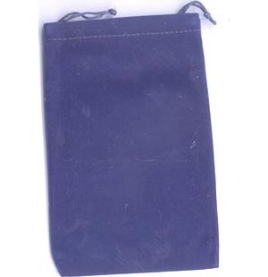 Bag Velveteen Pouch 4 X 5 1/2 Blue
