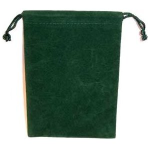 Bag Velveteen Pouch 4 X 5 1/2 Green
