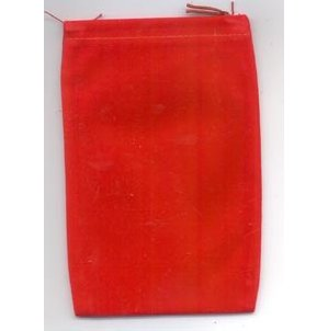 Bag Velveteen Pouch 4 X 5 1/2 Red