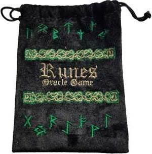 """4""""x 5/12"""" Rune Black Velveteen Bag"""