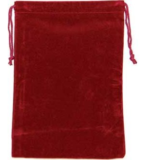 Bag Velveteen Pouch: 5 X 7 Burgundy