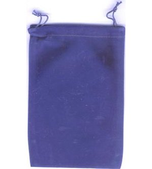 Bag Velveteen Pouch 5 X 7 Blue