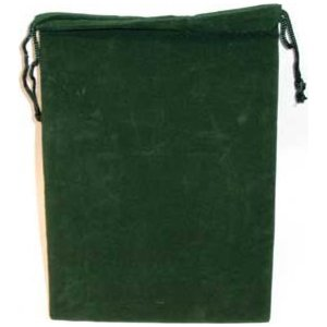 Bag Velveteen Pouch 5 X 7 Green