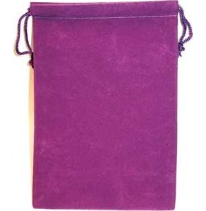 Bag Velveteen Pouch 5 X 7 Purple