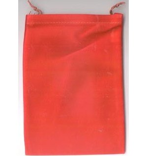 Bag Velveteen Pouch 5 X 7 Red