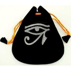Eye Of Horus Velveteen Pouch Bag 5""