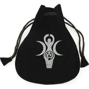 Goddess Of Earth Velveteen Pouch Bag