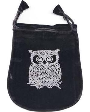 """5"""" Owl Velveteen Bag"""