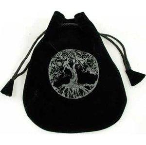 """Tree of Life Velveteen Bag 5"""""""