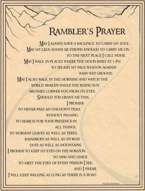 Rambler's Prayer Poster