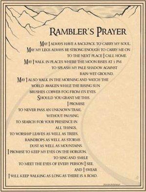 Rambler's Prayer Poster