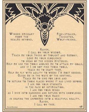 Raven Prayer Poster