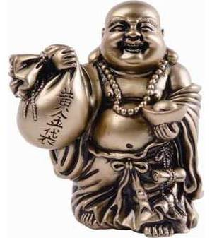 "Buddha Prosperity 3 3/4"" Statue"