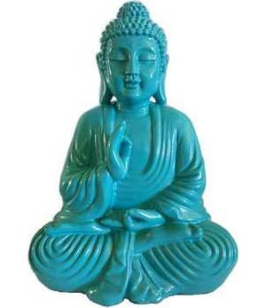 "7 3/4"" Turquoise Buddha Statue"