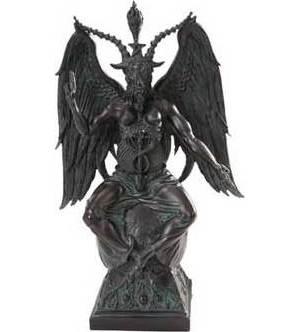 """14 1/2"""" Baphomet Statue"""