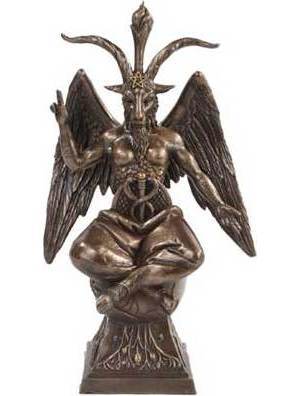 """Baphomet 9 1/2"""" Statue"""