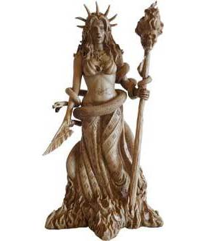 """10"""" Hecate Statue"""