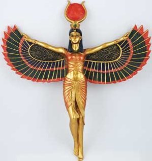 Open Wings Isis Statue