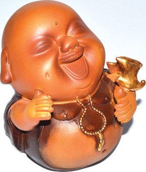"4"" Laughing Buddha"