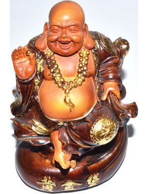 "5 1/2"" Laughing Buddha on Money Bag"