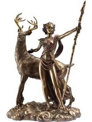 "Moon Diana 10 1/4"" Statue"