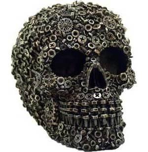 """4 1/2"""" Steampunk Skull"""