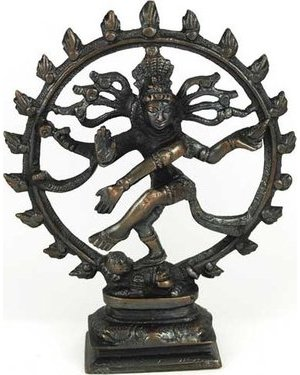 "Antiqued Bronze Shiva Dancing 6"" Statue"