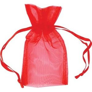 "2 3/4"" x 3"" Red Organza Bag"