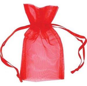 "2 3/4"" x 3"" Red Organza Bag"