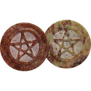 """Soapstone Pentagram Tile 3"""""""