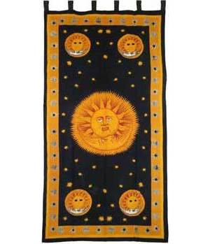 "Sun God Curtain 44""x88"""