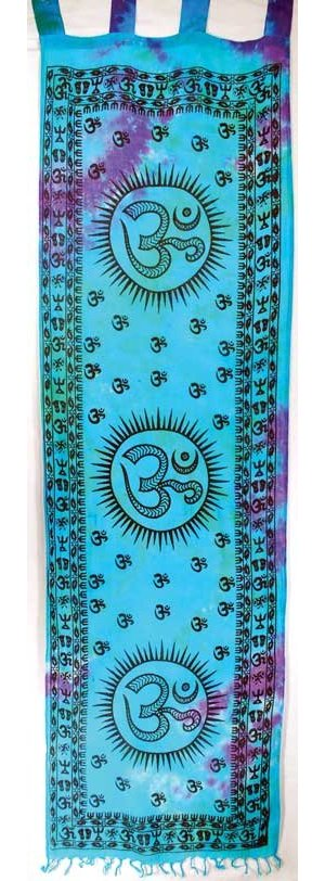"Om Curtain Pair 22""x72"""