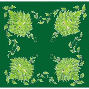 Green Man Caftan 3 ft square