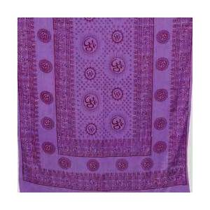 "Purple Om Shawl 44""x 87"""