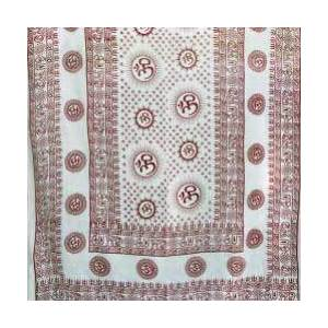 "White Om Shawl 44""x 87"""