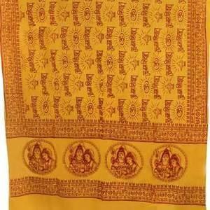 """Shiva, Parvati, Ganesh Shawl 44""""x 87"""""""